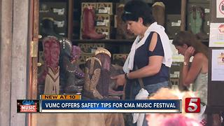 VUMC Offers Health Tips For CMA Festival - Video