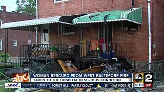 1 person injured in house fire on N. Bentalou St. - Video