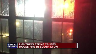 Lightning strikes home in South Lyon - Video