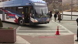 Woman hit by RTA bus, citizens group believes Public Square road closure partly to blame - Video