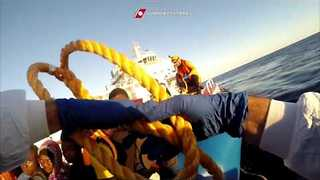 16 Reported Dead as More Than 1,000 Migrants Rescued in the Mediterranean - Video