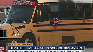 Hillsborough deputies investigate arson after school bus set on fire - Video