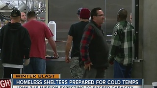 Homeless shelters prepared for cold temps