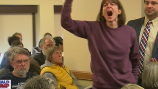 WATCH: Protesters disrupt Wisconsin presidential electors' Trump vote - Video