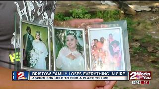Bristow family loses everything in house fire