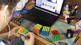 Amazing Rubik's Cube Skills Word Record - Video