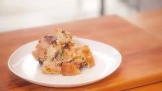 Caramelized Onion Bread Pudding - Video