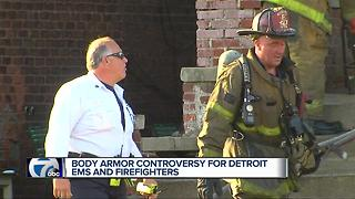 Body armor controversy for Detroit EMS and firefighters - Video