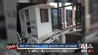 Man battling terminal illness reunited with old mail wagon he bought as a teen - Video