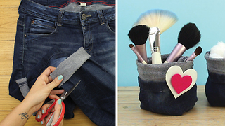 DIY Easy bags from recycled jeans - Video