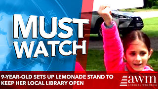 9-year-old sets up lemonade stand to keep her local library open - Video