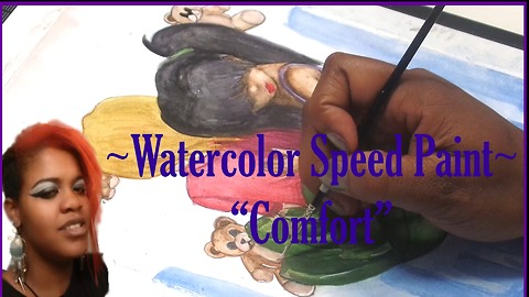 Watercolor illustration Speed Painting