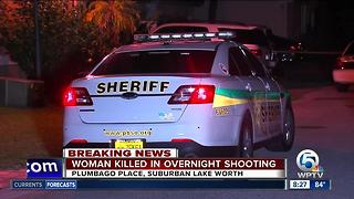 Woman killed in overnight suburban in suburban Lake Worth - Video