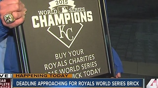 Deadline approaching for Royals World Series brick