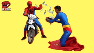 Spiderman vs Superman Vs Venom Version Thief, the Rich and Beggar - Video