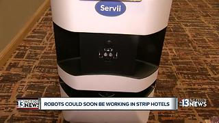 'Servii' the robot could soon be delivering room service on the Las Vegas Strip - Video