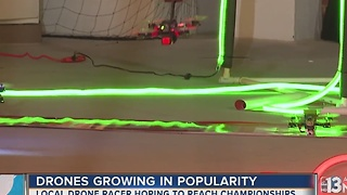 Las Vegas drone racer hopes to reach championships - Video