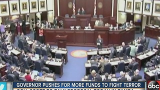 Governor Scott pushes for more funds to fight terror - Video