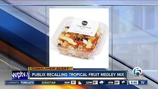Publix recalls tropical fruit medley mix - Video