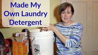 How to make chemical-free laundry detergent - Video