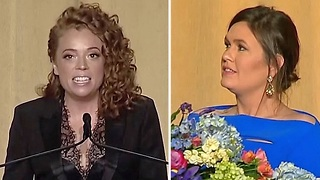 No-name comedian Michelle Wolf attacks Sarah Sanders at White House Correspondents Dinner - Video