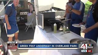 Greek Festival Flaming Cheese - Video