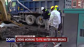 Crews working to fix water main breaks