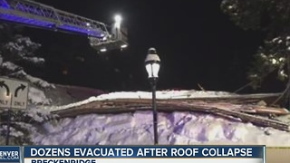 No injuries after roof collapse in Breckenridge - Video