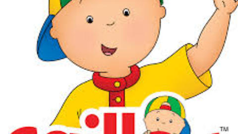 dad reads Caillou no more diapers with his son for bedtime story