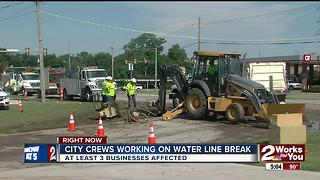 City crews working to repair water line