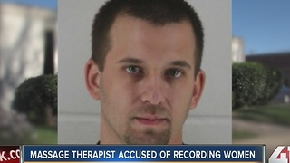 Massage therapist accused of recording women