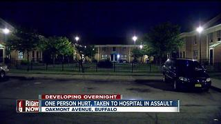 One person hurt, taken to hospital after assault - Video