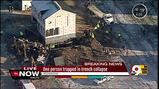 One person dead in Morrow trench collapse, Warren County officials say - Video