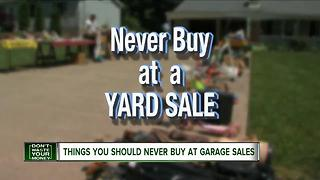 Things you should never buy at a garage sale - Video