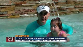 Local teachers taking on side jobs to pay bills - Video