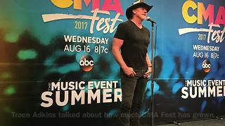 Stars Talk About CMA Fest Backstage At Nissan Stadium - Video