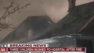 Five brought to hospital after Falls fire - Video