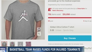 Basketball team raises funds for injured teammate - Video