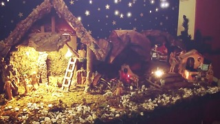 Italian style nativity scene - Merry Christmas - Video