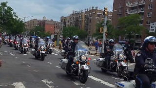 New York Police Holds Funeral Procession for Fallen Officer - Video