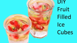 DIY Fruit filled ice cubes - Video