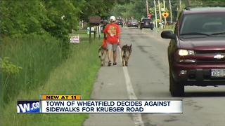 Town of Wheatfield decides against sidewalks for Krueger Road - Video