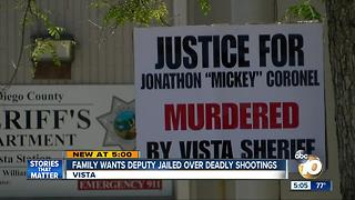 Family wants Sheriff's Deputy jailed over deadly shootings - Video