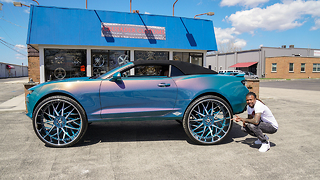 Custom Camaro With Insane 32-Inch Wheels | RIDICULOUS RIDES - Video