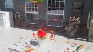 Exploding a watermelon with hundreds of rubber bands  - Video