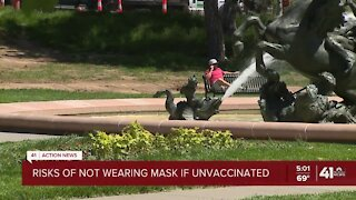 Risks of not wearing mask if unvaccinated