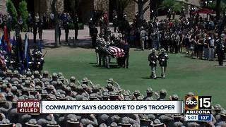 Community says goodbye to fallen DPS trooper - Video