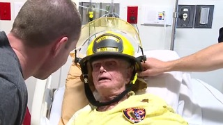 Honorary firefighter passes away - Video