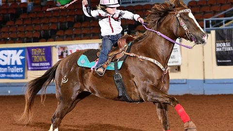 The barrel racing prodigy who rides 1200lb horses at top speeds and was competing professionally aged five