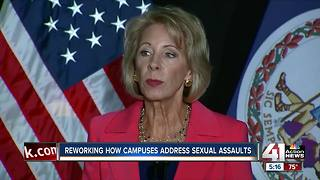 Betsy Devos says Title 9 has failed too many students - Video